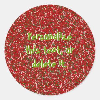 El caramelo asperja con los PEGATINAS de los Etiquetas Redondas