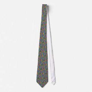 El caramelo colorido asperja la impresión corbatas personalizadas