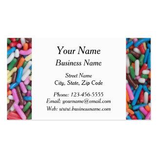 El caramelo colorido asperja tarjetas de visita