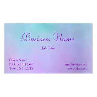 El caramelo de algodón se nubla la tarjeta de tarjetas de visita