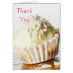 El caramelo de chocolate blanco le agradece cardar tarjetas