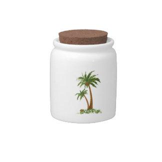 El caramelo de la palmera sacude 10oz jarras para caramelos