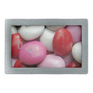 El caramelo de la tarjeta del día de San Valentín Hebilla Cinturon Rectangular