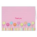 El caramelo dulce del Lollipop le agradece las tar Felicitaciones
