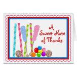 El caramelo le agradece Notecards