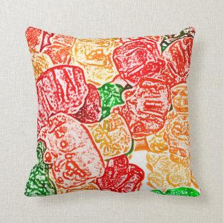 el caramelo lleva el bocado abstracto del dulce de almohadas