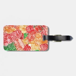 el caramelo lleva el bocado abstracto del dulce de etiquetas para equipaje