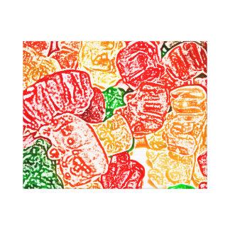 el caramelo lleva el bocado abstracto del dulce de lona envuelta para galerías