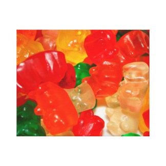 el caramelo lleva los dulces rojos coloridos de la impresión en lona estirada