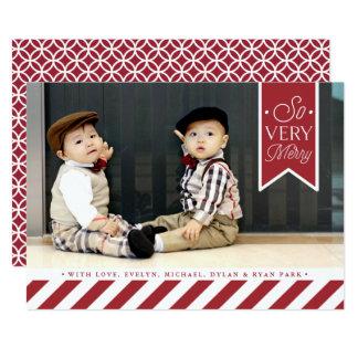 """El caramelo raya la tarjeta de la foto del día de invitación 5"""" x 7"""""""