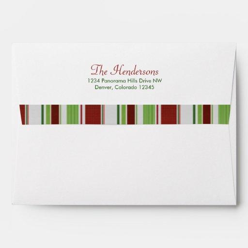 El caramelo raya sobres de Navidad o del día de fi