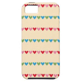 El caramelo retro de los corazones rayó el modelo iPhone 5 carcasa