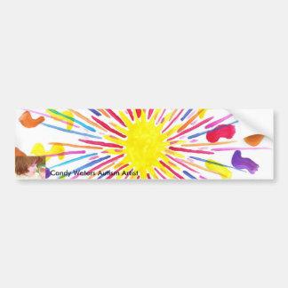 El caramelo riega al artista del autismo pegatina de parachoque