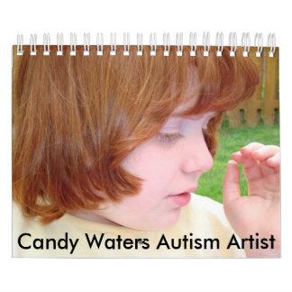 El caramelo riega al artista del autismo calendarios de pared