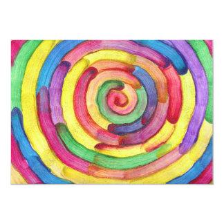 """El caramelo riega al artista del autismo invitación 5"""" x 7"""""""