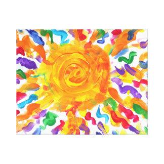 El caramelo riega al artista del autismo impresiones en lienzo estiradas