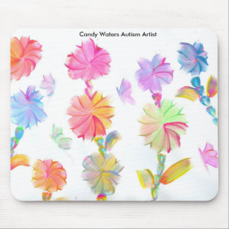 El caramelo riega al artista del autismo mouse pads