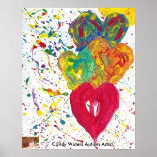 El caramelo riega al artista del autismo poster