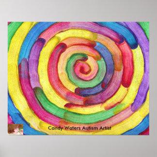 El caramelo riega al artista del autismo impresiones