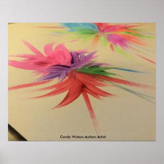 El caramelo riega al artista del autismo póster