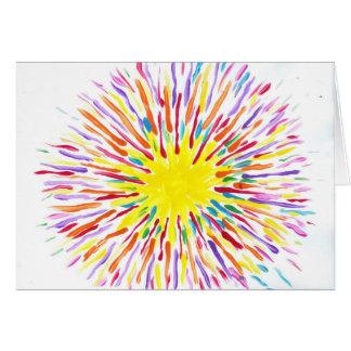 El caramelo riega al artista del autismo tarjeta de felicitación