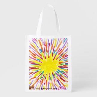 El caramelo riega el bolso del artista del autismo bolsas reutilizables