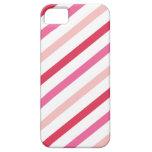 El caramelo rosado dulce raya el día de San Valent iPhone 5 Case-Mate Cobertura
