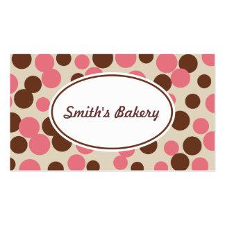 El caramelo rosado puntea la tarjeta de visita