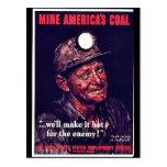 El carbón de América de la mina Postales