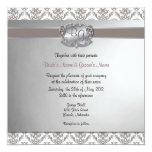 El carbón de leña Brown y el boda elegante de Invitación 13,3 Cm X 13,3cm