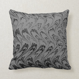 El carbón de leña del vintage agita la almohada