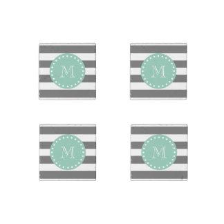 El carbón de leña raya el modelo, monograma de la imán de piedra