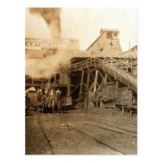 El carbón tipple en la mina de Gastón Postales