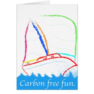 El carbono libera tarjeta de felicitación