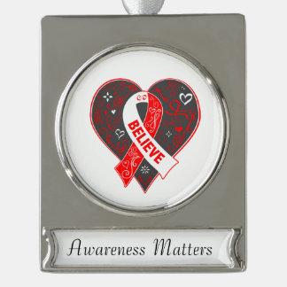 El carcinoma de células escamosas cree el corazón adornos personalizables