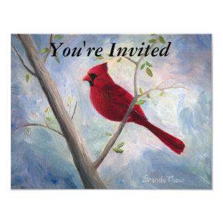 """el cardenal invita invitación 4.25"""" x 5.5"""""""