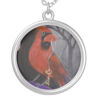 El cardenal y la llave colgante redondo