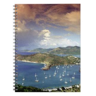 El Caribe, Antigua Libro De Apuntes Con Espiral