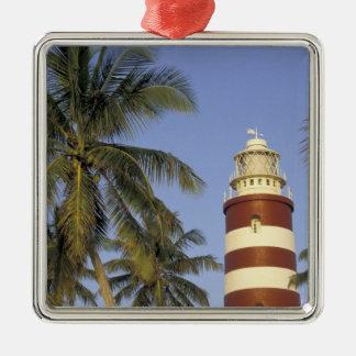 El Caribe, Bahamas, Ábaco, isleta del codo. Adorno Navideño Cuadrado De Metal