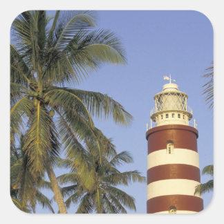 El Caribe, Bahamas, Ábaco, isleta del codo. Calcomanías Cuadradas