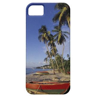 El CARIBE, Grenada, San Jorge, barcos en la palma Funda Para iPhone 5 Barely There