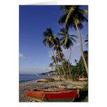 El CARIBE, Grenada, San Jorge, barcos en la palma Felicitacion