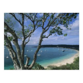 El Caribe, isla de Anguila, puerto de la bahía del Tarjetas Postales