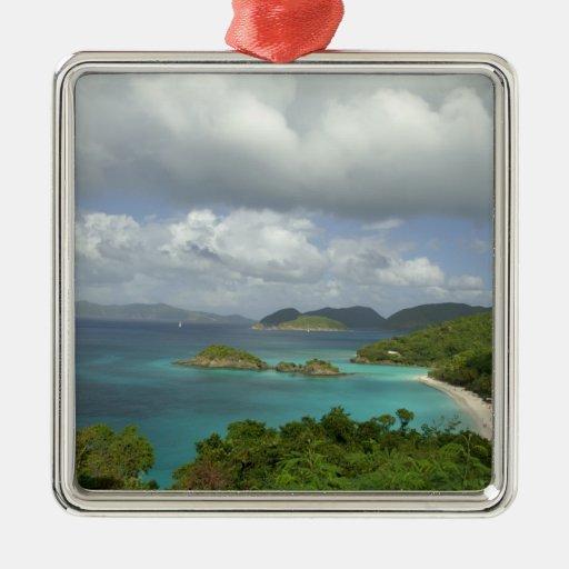 El Caribe, Islas Vírgenes de los E.E.U.U., St. Adorno Navideño Cuadrado De Metal