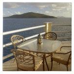 El Caribe, Islas Vírgenes de los E.E.U.U., St Thom Azulejo Cuadrado Grande