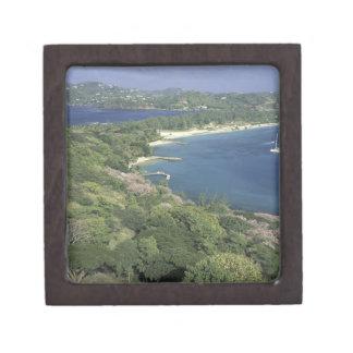 El Caribe, las Antillas, St Lucia. Vista a Cajas De Joyas De Calidad
