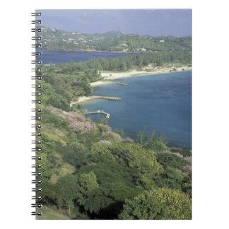El Caribe, las Antillas, St Lucia. Vista a Cuaderno