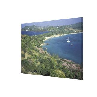 El Caribe, las Antillas, St Lucia. Vista a Impresiones En Lona Estiradas