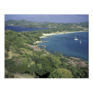 El Caribe, las Antillas, St Lucia. Vista a Postal