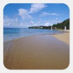 El Caribe, pocas Antillas, las Antillas, 3 Pegatina Cuadrada
